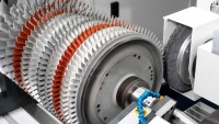 Assembled gas turbine rotors
